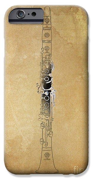 Clarinet 21 Jazz B IPhone Case by Pablo Franchi