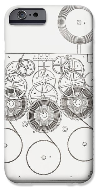 Clock With Chimes. From The Cyclopaedia IPhone Case by Vintage Design Pics