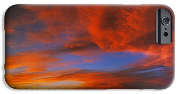 Clouds In The Sky At Sunset, Taos, Taos IPhone Case by Panoramic Images