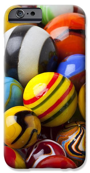 Colorful Marbles IPhone Case by Garry Gay