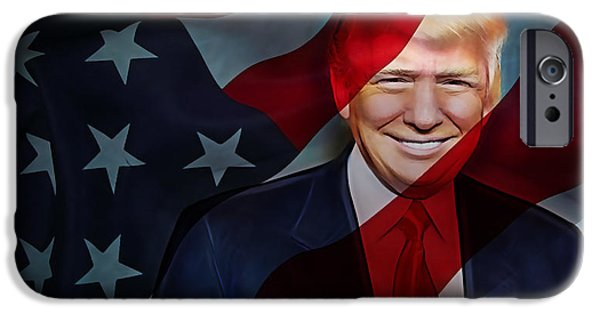 Donald Trump Collection IPhone Case by Marvin Blaine