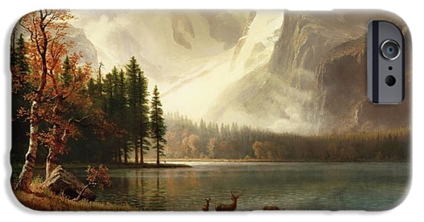 Estes Park, Colorado, Whyte's Lake IPhone Case by Albert Bierstadt