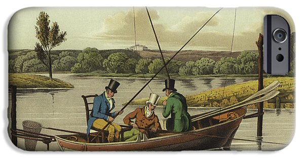 Fishing In A Punt  IPhone Case by Henry Thomas Alken