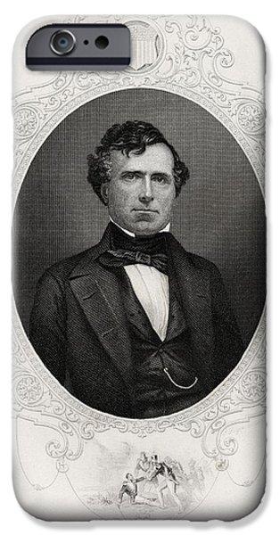 Franklin Pierce 1804-1869 14th IPhone Case by Vintage Design Pics