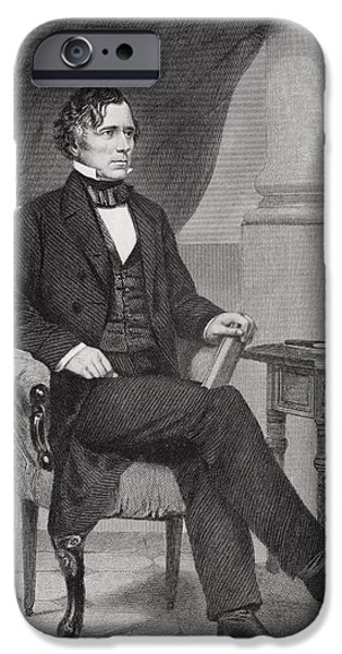 Franklin Pierce 1804 To 1869. 14th IPhone Case by Vintage Design Pics