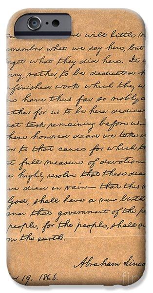 Gettysburg Address IPhone Case by Granger