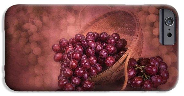 Grapes In Wicker Basket IPhone Case by Tom Mc Nemar