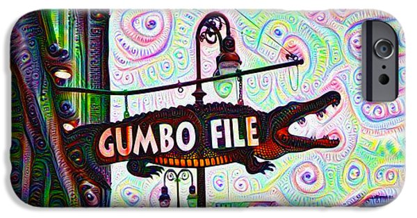 Gumbo File IPhone Case by Bill Cannon