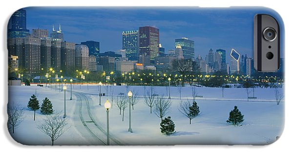 High Angle View Of Snow Covered IPhone Case by Panoramic Images