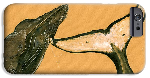 Humpback Whale Painting IPhone 6s Case by Juan  Bosco