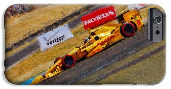 Indy Car's Ryan Hunter-reay IPhone Case by Blake Richards