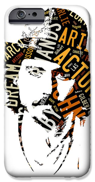 Johnny Depp Movie Titles IPhone 6s Case by Marvin Blaine