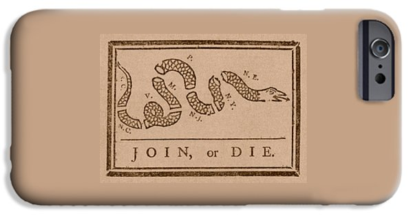 Join Or Die IPhone 6s Case by War Is Hell Store