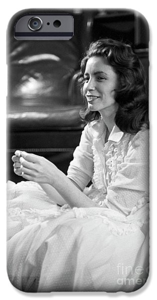 June Carter, 1956 IPhone Case by The Phillip Harrington Collection