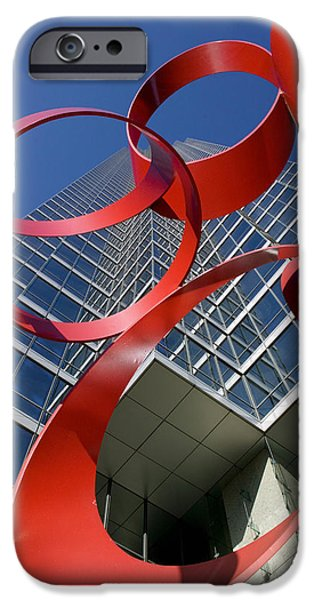 Low Angle View Of A Sculpture In Front IPhone Case by Panoramic Images