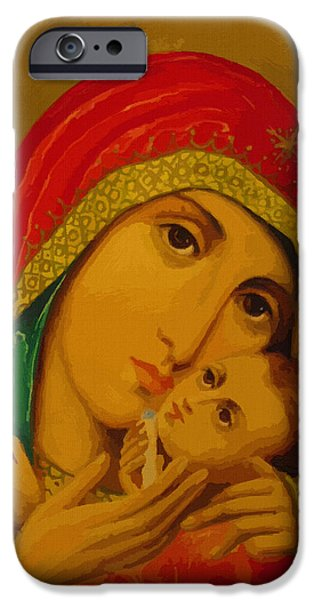 Madonna And Child IPhone Case by Christian Art