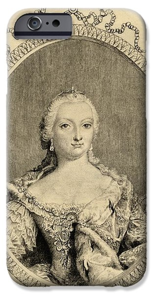 Maria Theresa, Archduchess Of Austria IPhone Case by Vintage Design Pics