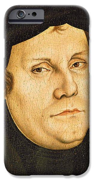 Martin Luther IPhone Case by Lucas the elder Cranach
