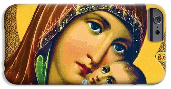 Mary And Child IPhone Case by Christian Art