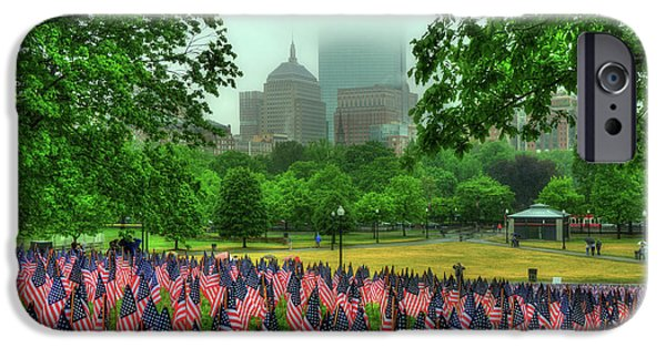 Military Heroes Garden Of Flags - Boston Common IPhone Case by Joann Vitali