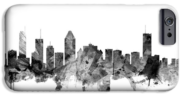 Montreal Canada Skyline IPhone Case by Michael Tompsett