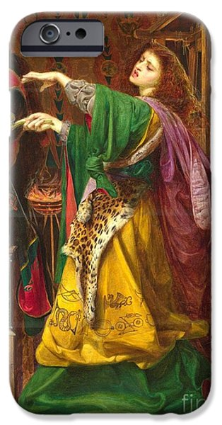 Morgan Le Fay IPhone Case by Frederick Sandys