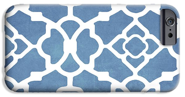 Moroccan Blues IPhone Case by Mindy Sommers