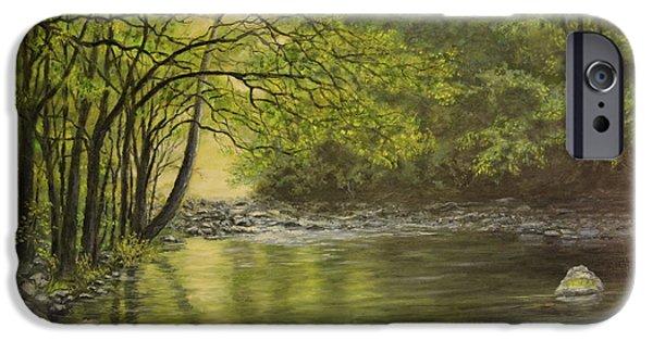 Mountain Stream Near Gatlinburg Tn IPhone Case by Kathleen McDermott