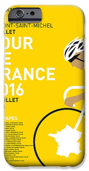My Tour De France Minimal Poster 2016 IPhone Case by Chungkong Art