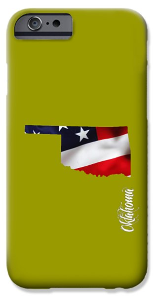 Oklahoma State Map Collection IPhone Case by Marvin Blaine