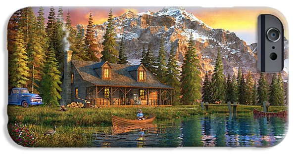 Old Log Cabin IPhone Case by Dominic Davison