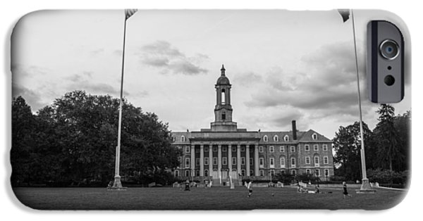 Old Main Penn State Black And White  IPhone 6s Case by John McGraw