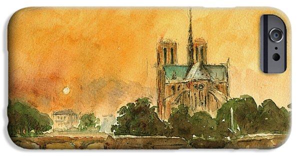 Paris Notre Dame IPhone 6s Case by Juan  Bosco