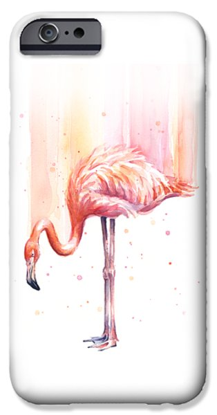 Pink Flamingo - Facing Right IPhone 6s Case by Olga Shvartsur