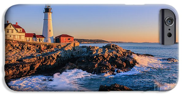 Portland Head Light IPhone Case by Henk Meijer Photography