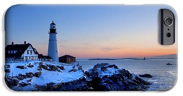 Portland Head Lighthouse Sunrise - Maine IPhone Case by Joann Vitali