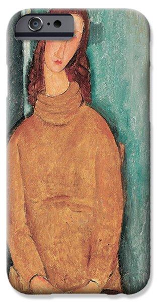Portrait Of Jeanne Hebuterne IPhone Case by Amedeo Modigliani