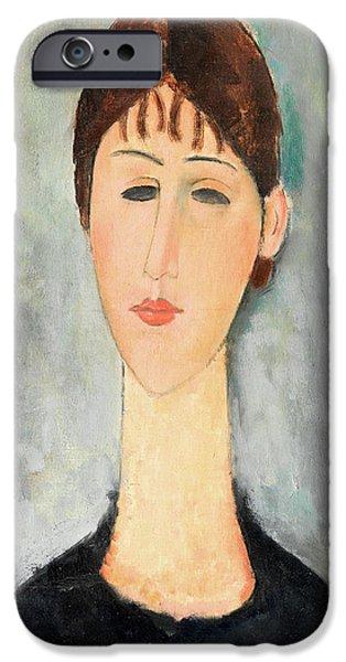 Portrait Of Mme Zborowska IPhone Case by Amedeo Modigliani