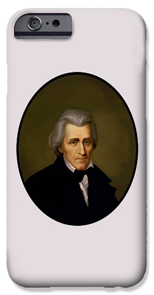 President Andrew Jackson IPhone Case by War Is Hell Store