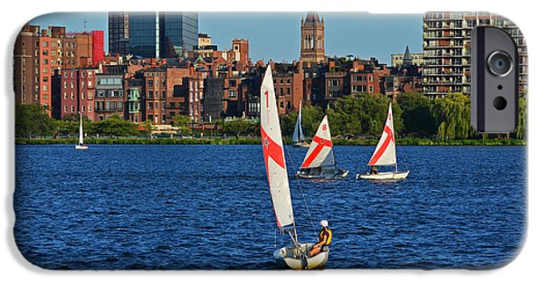 Sailing The Charles River Boston Ma IPhone Case by Toby McGuire