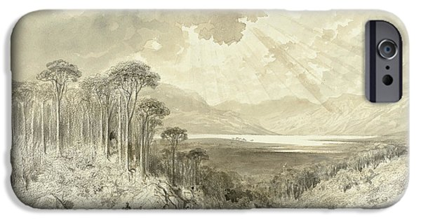 Scottish Landscape IPhone Case by Gustave Dore