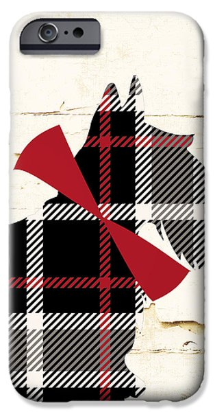 Scottish Terrier Tartan Plaid IPhone Case by Mindy Sommers