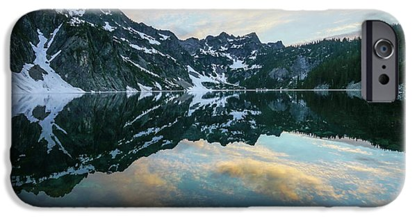Snow Lake Chair Peak Dusk Reflection IPhone Case by Mike Reid