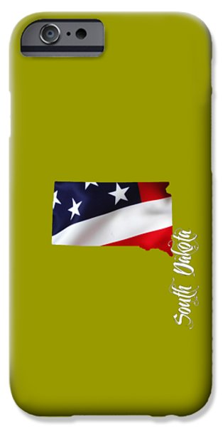 South Dakota Map Collection IPhone Case by Marvin Blaine