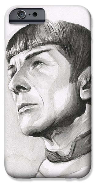 Spock Portrait IPhone Case by Olga Shvartsur