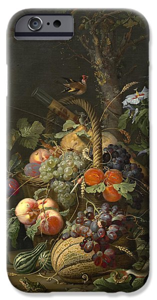 Still Life With Fruit Fish And A Nest IPhone Case by Abraham Mignon