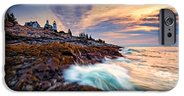 Summer Sunrise At Pemaquid Point IPhone Case by Rick Berk