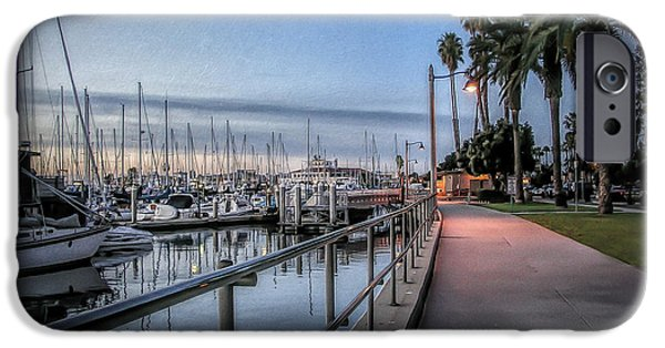 Sunrise Over Santa Barbara Marina IPhone Case by Tom Mc Nemar