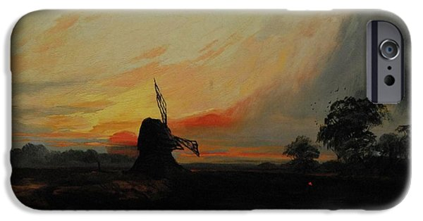 Sunset By The Windmill IPhone Case by Henry Bright