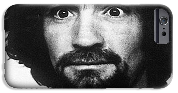 Charles Manson Mug Shot 1969 Vertical  IPhone 6s Case by Tony Rubino